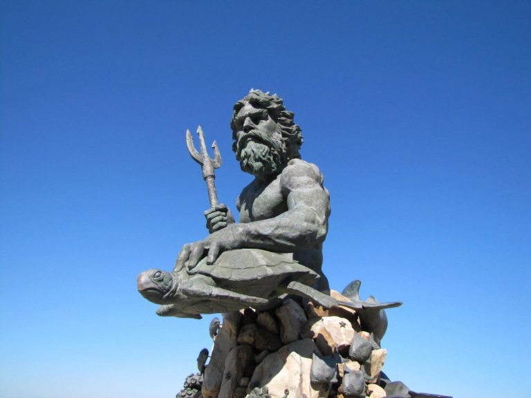 Statue of the God Neptune at Virginia Beach
