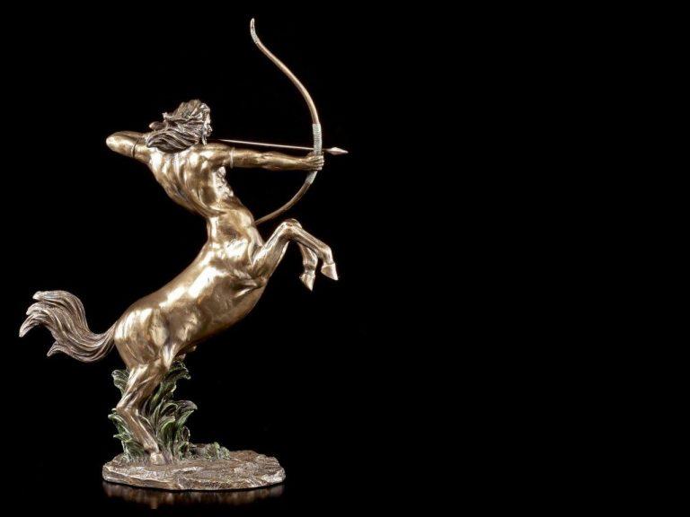 Statue by Veronese of Centaur shooting arrow