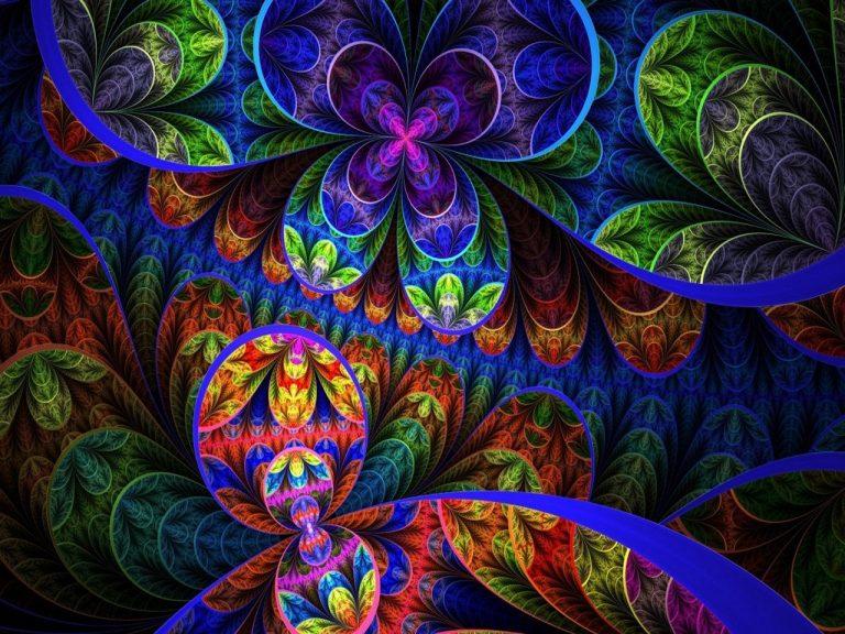 fractal image of flowers
